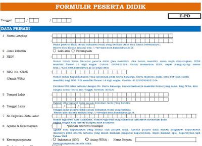 Download Formulir Peserta Didik dan PTK Dapodik 2019