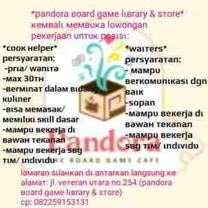 Lowongan Kerja di Pandora Board Game Library & Store