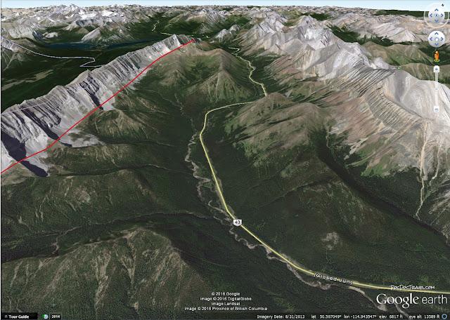 Kananaskis Banff Alberta Canada geology lewis thrust belt