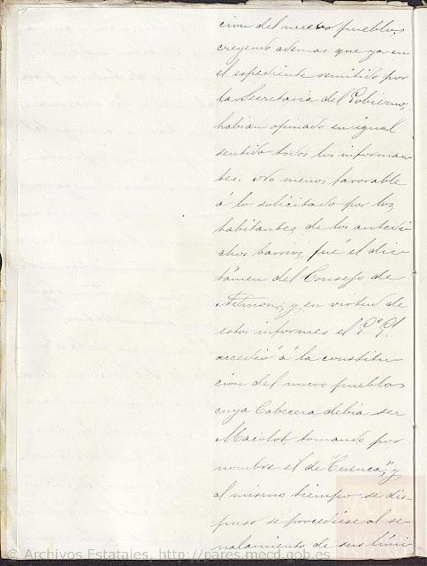 Page 5, Creation of the New Pueblo of Cuenca.