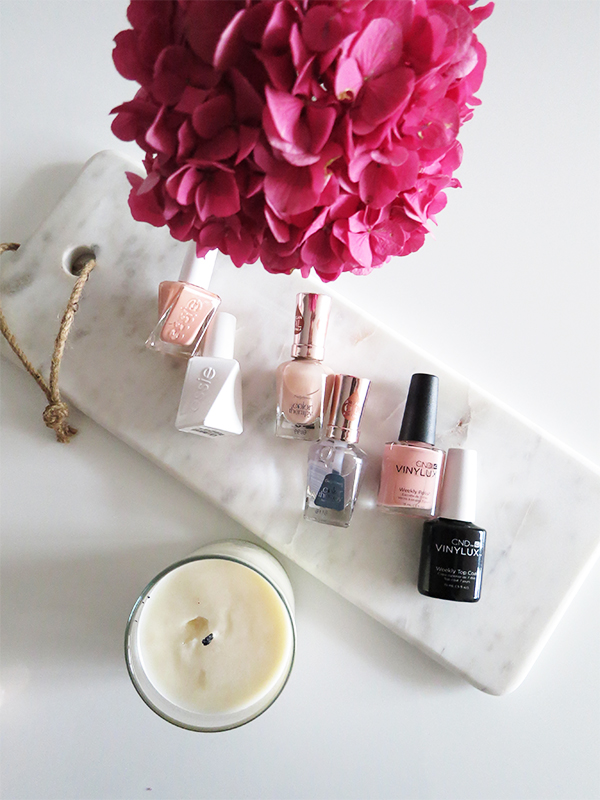 Three long-lasting nail polish systems put to the test: CND Vinylux, Essie Gel Couture, Sally Hansen Color Therapy