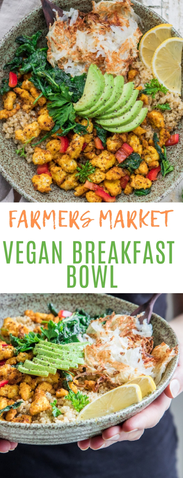 FARMERS MARKET VEGAN BREAKFAST BOWL #vegan #breakfast