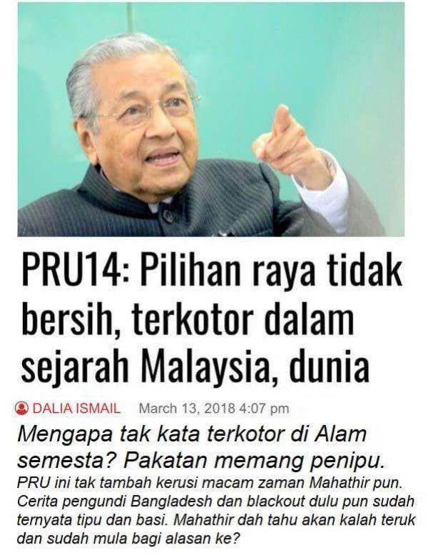 Mahathir kata PRU14 adalah terkotor di dalam sejarah Malaysia dan dunia?