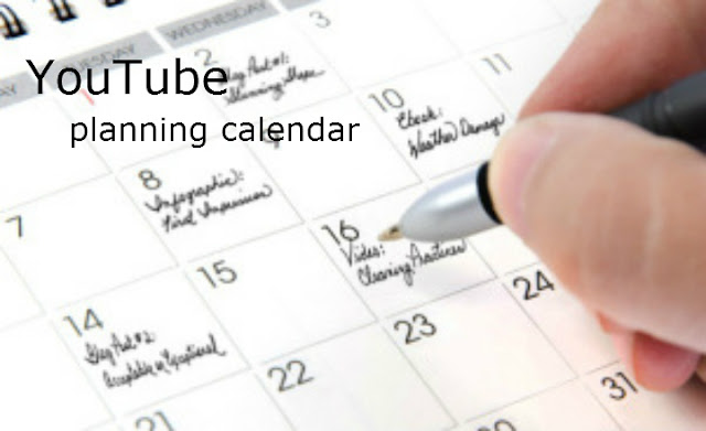 Youtube Planning Calendar