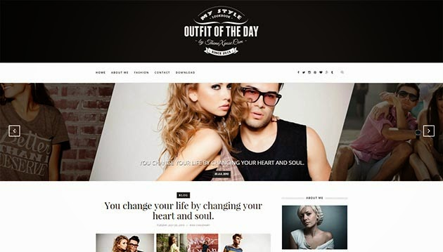 Outfit blogger template- Clean responsive seo friendly xml template blogger for fashion, lifestyle, magazine,news, personal blogs