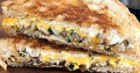 ONION & MUSHROOM GRILLED CHEESE SANDWICH