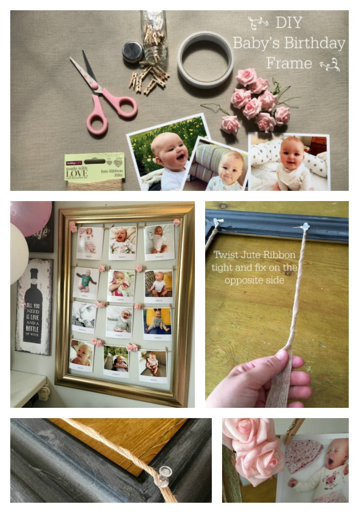 Increíble My First Birthday Picture Frame Colección - Ideas ...