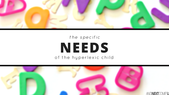 A look at the specific needs of the hyperlexic child