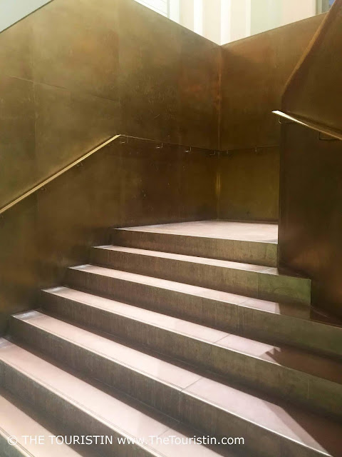 Latvian National Museum of Art. Riga. golden staircase. The Touristin