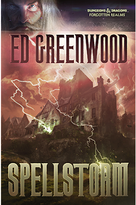 The cover of the novel Spellstorm by Ed Greenwood