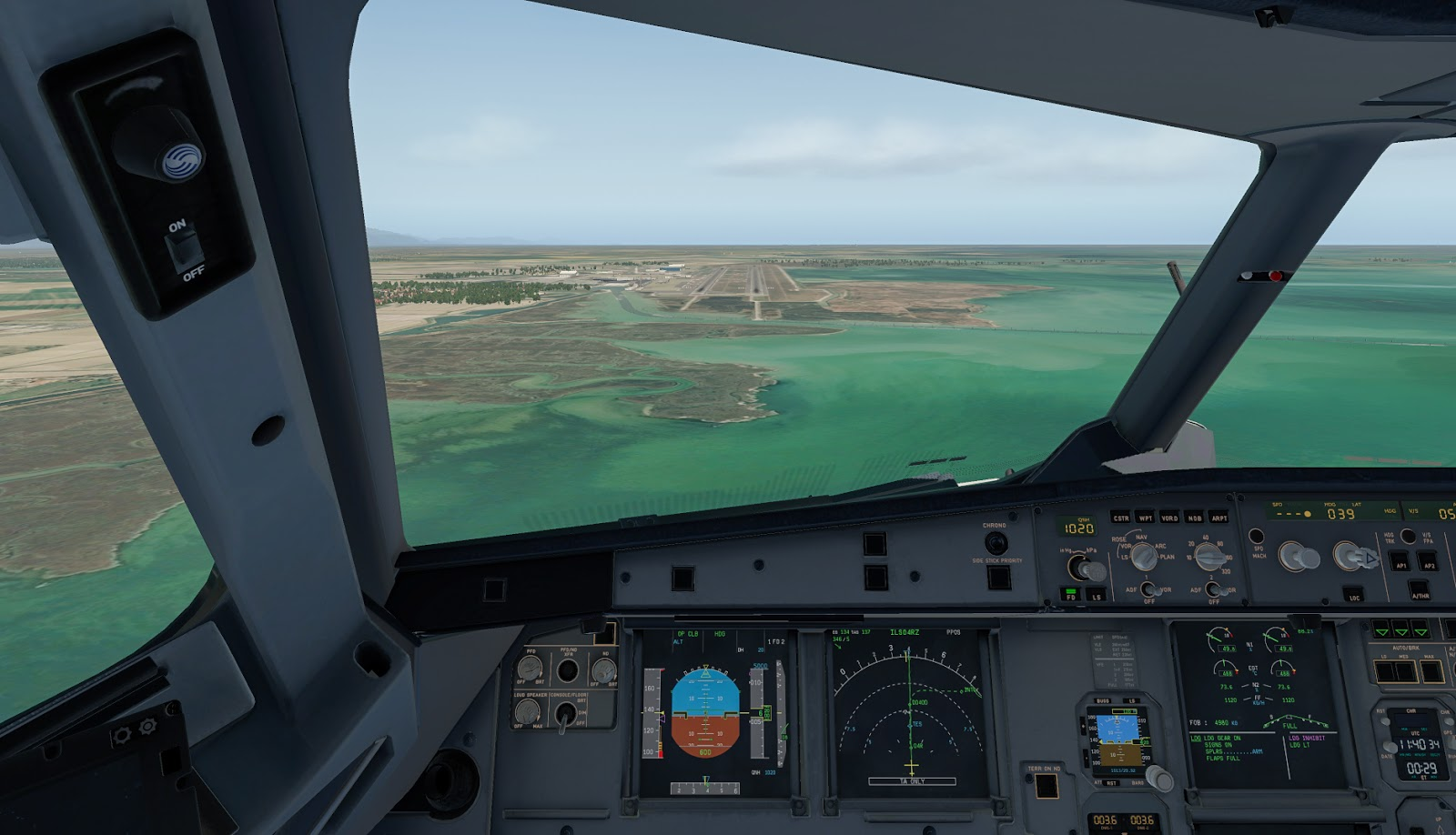 FlightFactor A320 - Practicing Touch and Go