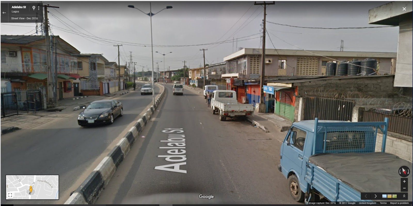 google s streetview hits lagos nigeria nigerian. Black Bedroom Furniture Sets. Home Design Ideas
