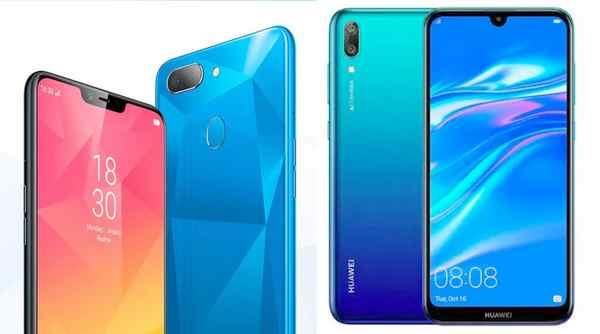 Perbandingan HP Huawei Y7 PRO dan realme 2