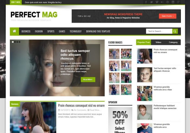 Perfect Mag Blogger Theme