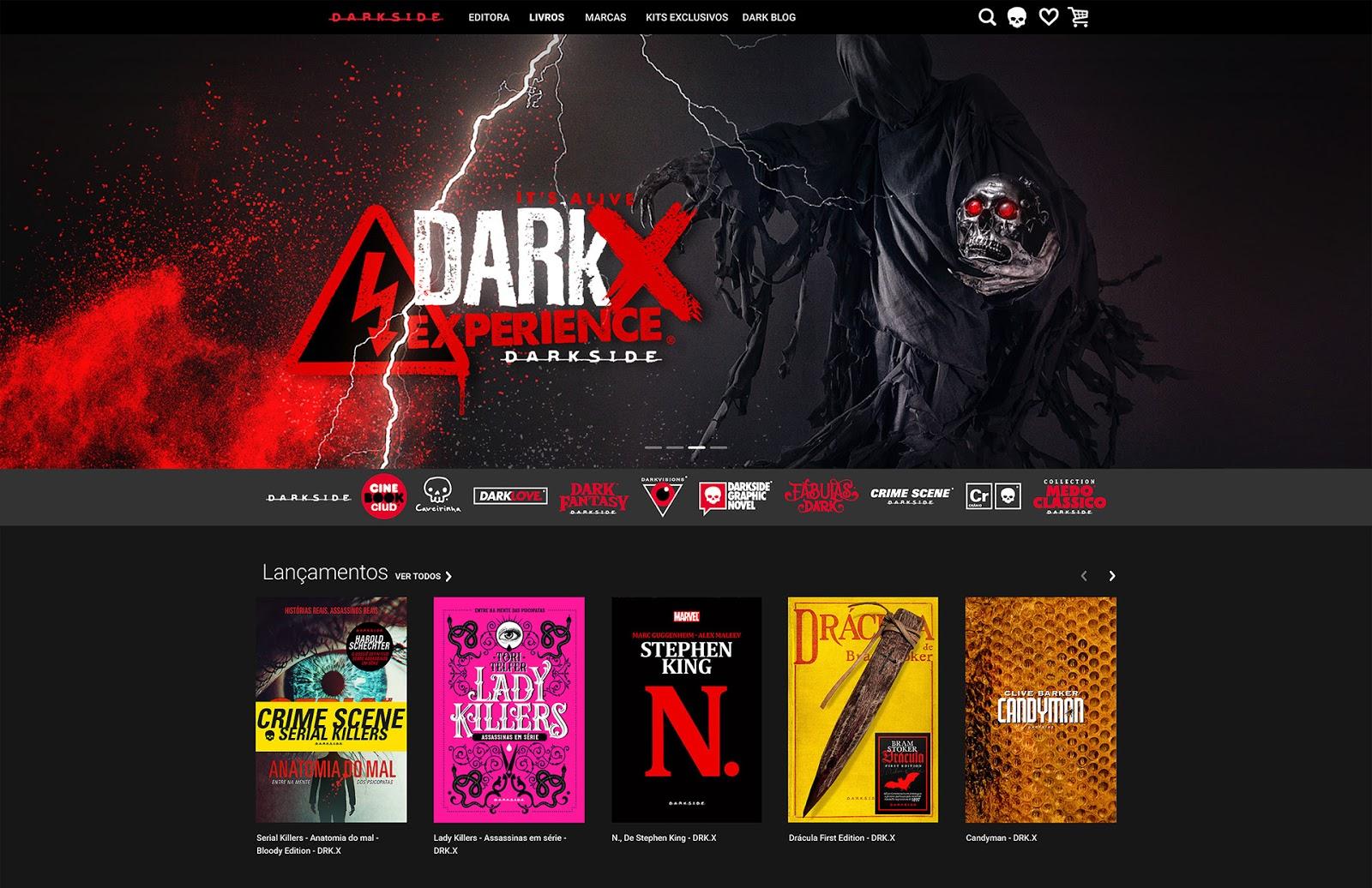 DarkSide® Books inaugura loja virtual para transformar a experiência de  compra  www.darksidebooks.com.br c7ce4cfaeabc0
