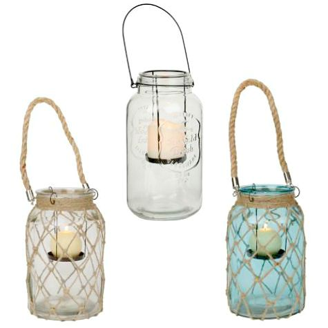 Netted Jar Candle Lantern