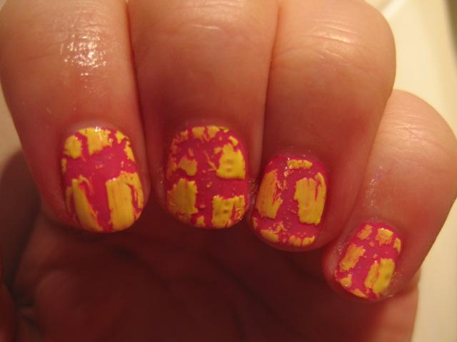 Isa dora, pękające, różowe paznokcie, różowo-żółty,amazing nails