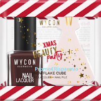 Logo Wycon ''Gift Machine Xmas Edition'': vinci gratis 30 Kit Smalto + Lima in edizione limitata