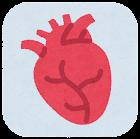 内臓のアイコン(枠付き・心臓)