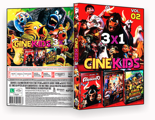 CAPA DVD – Cine Kids 3 Em 1 Vol.2 – ISO