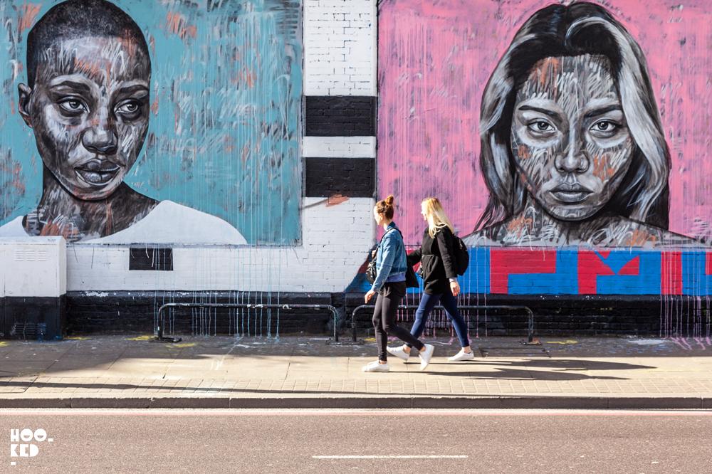 Impressive Fashion Portrait Murals Of Models By Street Artist