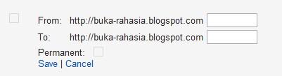 Redirect Halaman Blogger