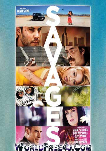 Poster Of Savages (2012) Full Movie Hindi Dubbed Free Download Watch Online At worldfree4u.com