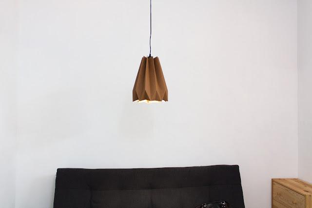 可水洗牛皮紙摺吊燈