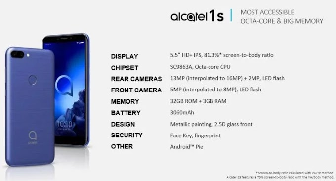 Alcatel's 2019 lineup revealed, includes the 3V, 3L, 1s, and 1V