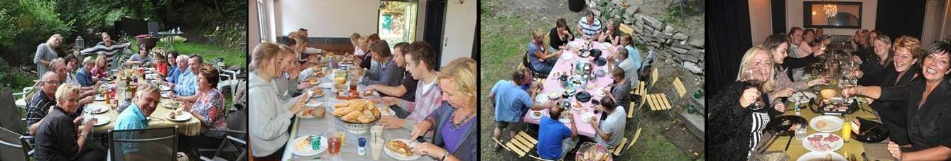 Gezellig aan tafel bij Le Barrage met familie en vrienden