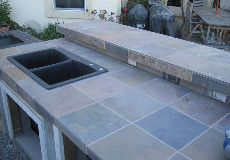 Setting The Countertop Tiles When You Have An Undermount Sink Adds A Few More Steps To Work Required For Over Mount Main Difference Is That