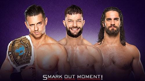 WWE WrestleMania 34 Miz vs Seth Rollins vs Finn Balor
