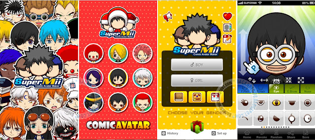 download SuperMii APK Make Comic Sticker Aplikasi Untuk Membuat Avatar Kartun