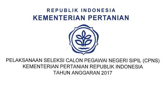 Penerimaan Cpns Kementerian Pertanian Ri Seluruh Indonesia 475