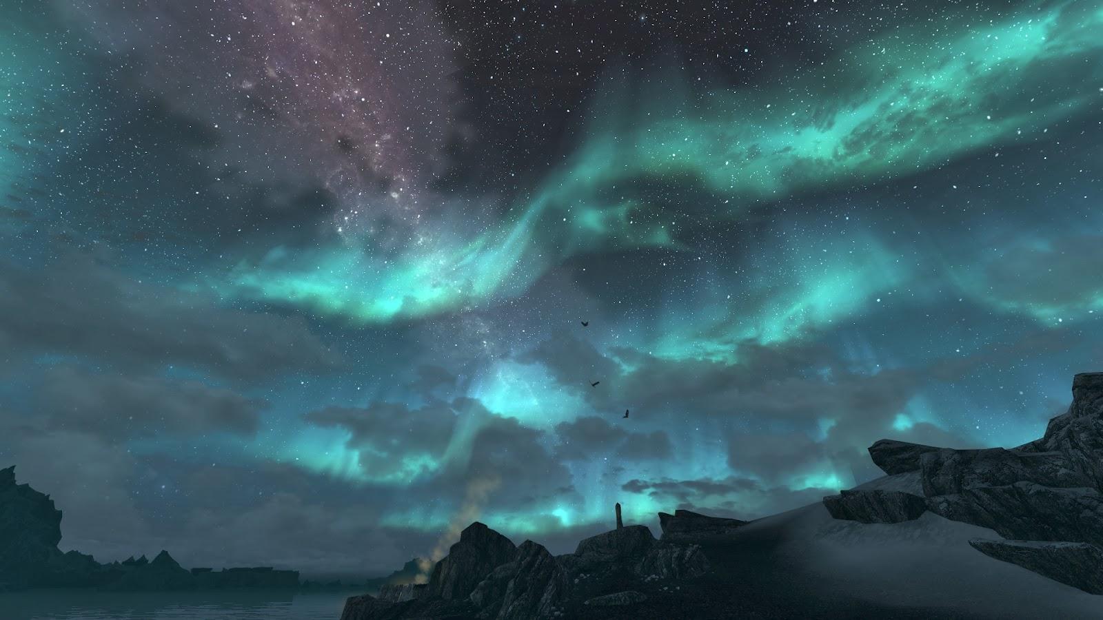 Free Beautiful Sky Wallpapers For Desktop Black Night