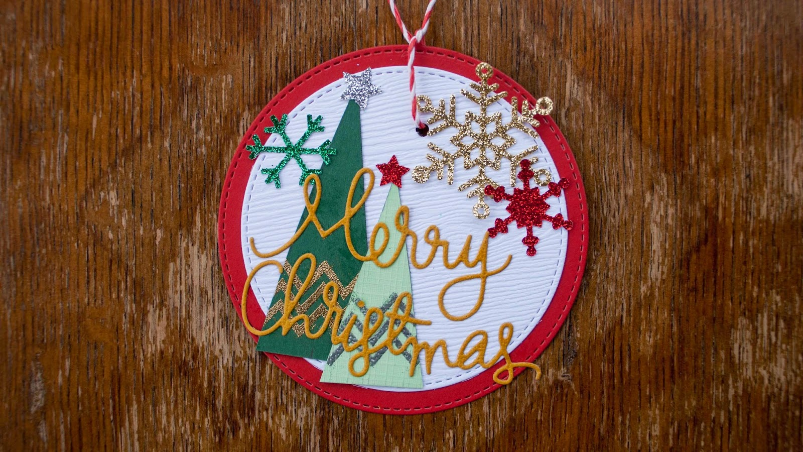 fast christmas ornaments using handmade triangle holiday trees in red