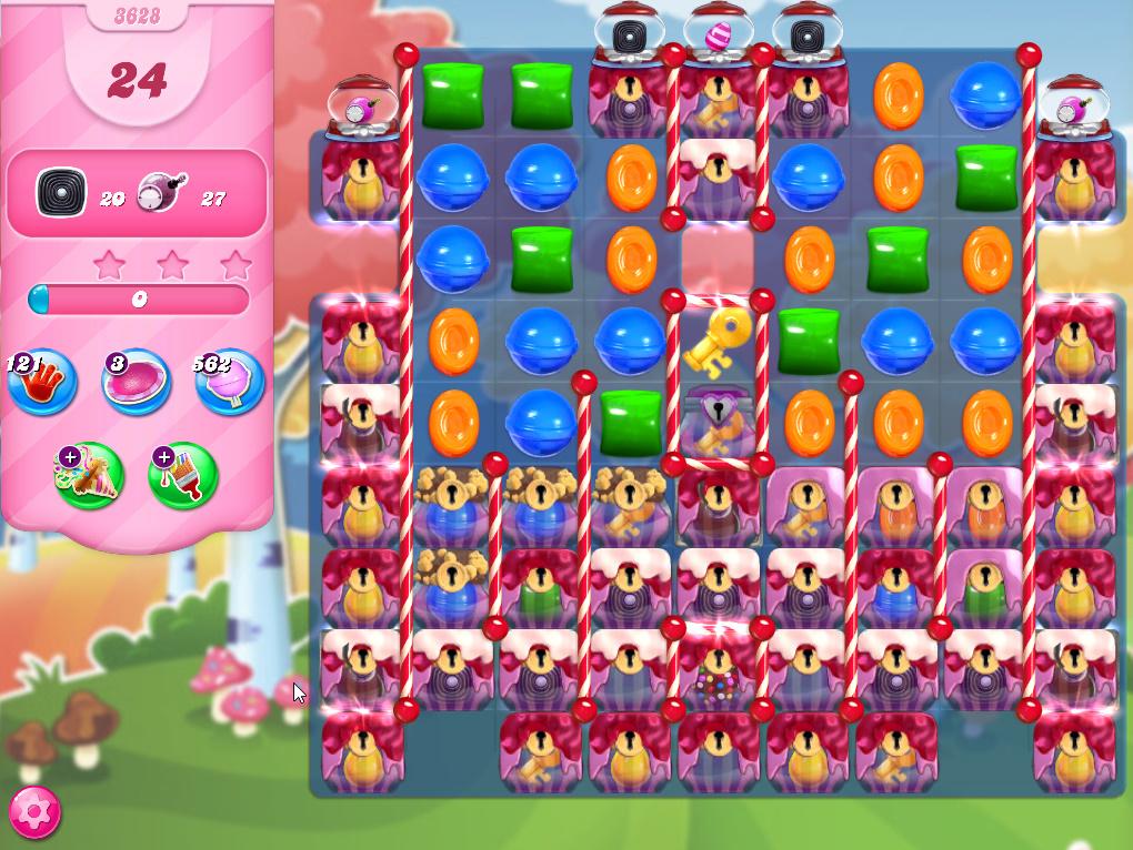 Candy Crush Saga level 3628
