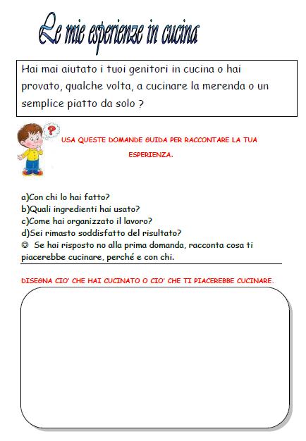 Schede ed attivit didattiche del maestro fabio per la scuola primaria il - Quiz sulla cucina ...