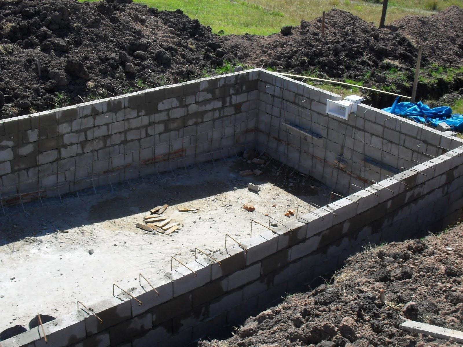 Constructora valdivia proceso constructivo de una piscina for Cuanto cuesta hacer una pileta de material 2016