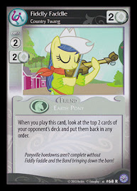 My Little Pony Fiddly Faddle, Country Twang Premiere CCG Card