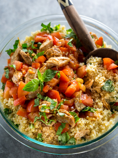 20 MINUTE CHICKN BRUSCHETTA QUINOA SALAD