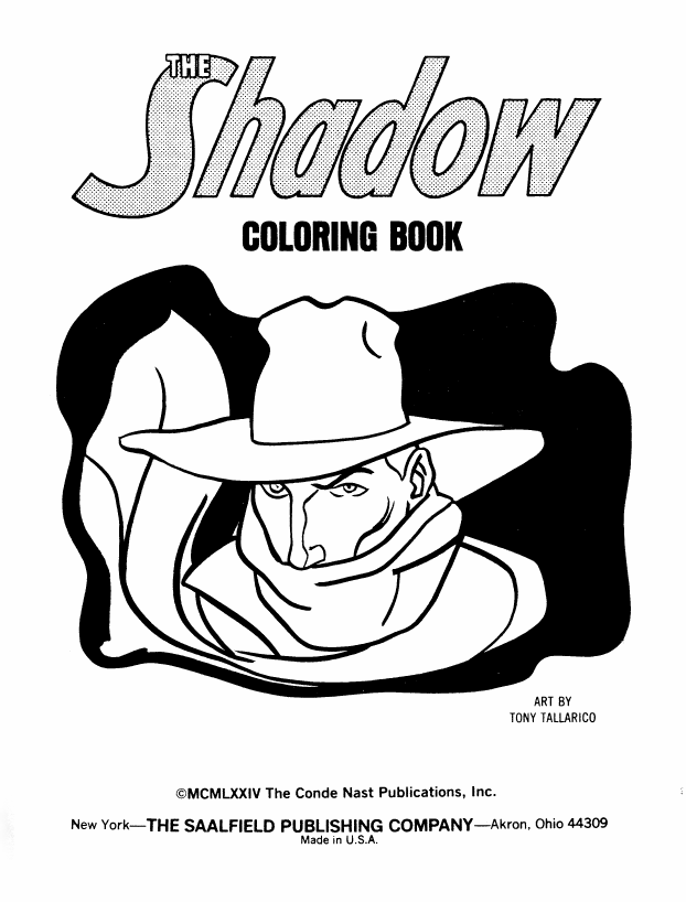 Saved From The Paper Drive: The Shadow coloring book