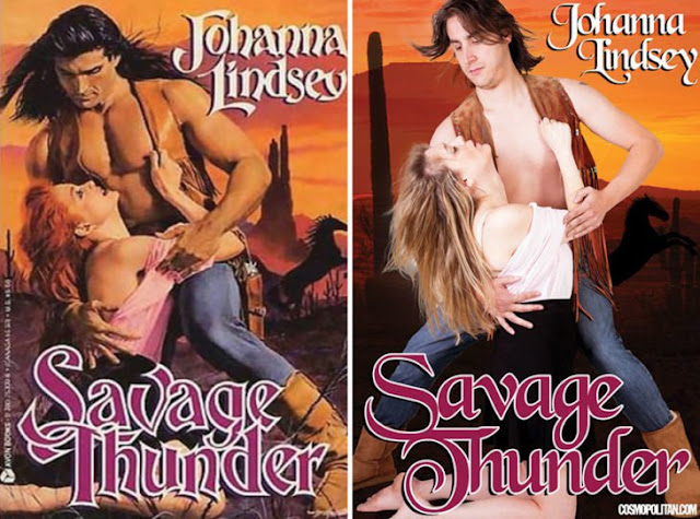 Recrearon las portadas de NOVELAS ROMÁNTICAS y será lo más divertido que verás hoy