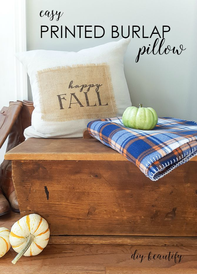 burlap pillow | diy beautify