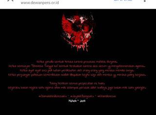 Situs Dewanpers Tumbang berhasil diretas Hacker sehingga berubah tampilan menjadi deface hitam