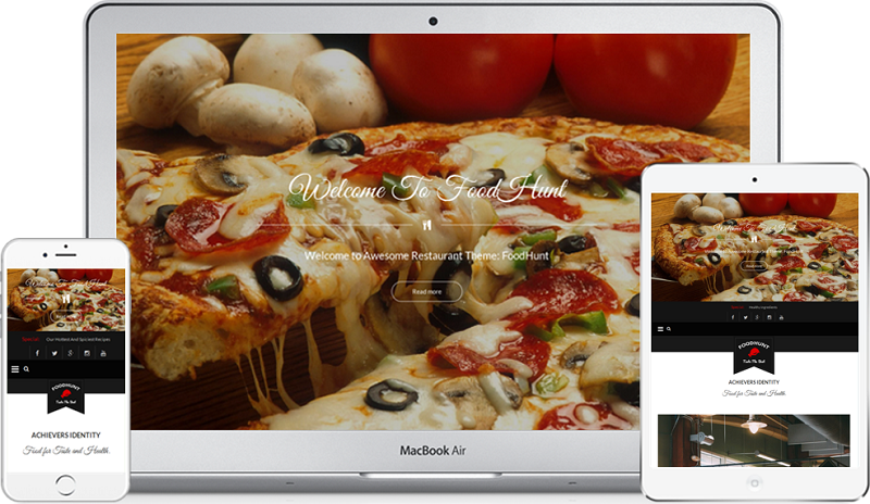 FoodHunt Responsive Restaurant WordPress Theme Free Download