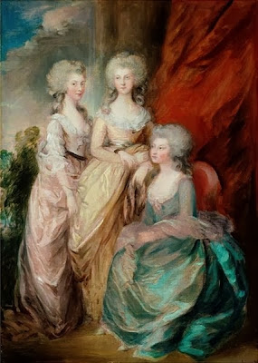 The three eldest daughers of George III (Charlotte, Augusta and Elizabeth) by Gainsborough Dupont