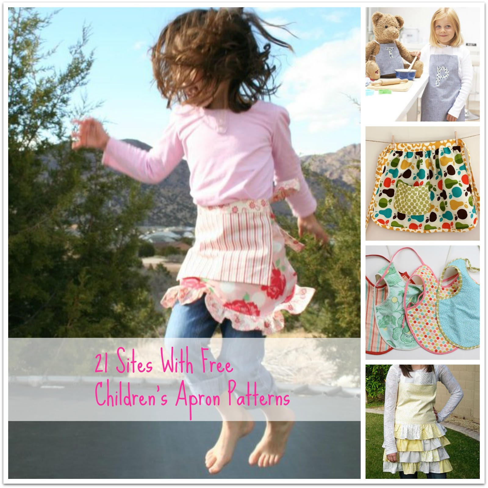21 Sites with Free Children's Apron Patterns