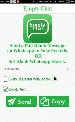 Cara Kirim Pesan Kosong di Aplikasi WhatsApp