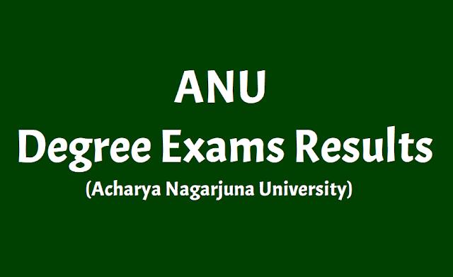 anu ug degree result 2018 (1st, 3rd and 5th semester results declared),acharya nagarjuna university degree exams results,acharya nagarjuna university  undergraduate degree exam results